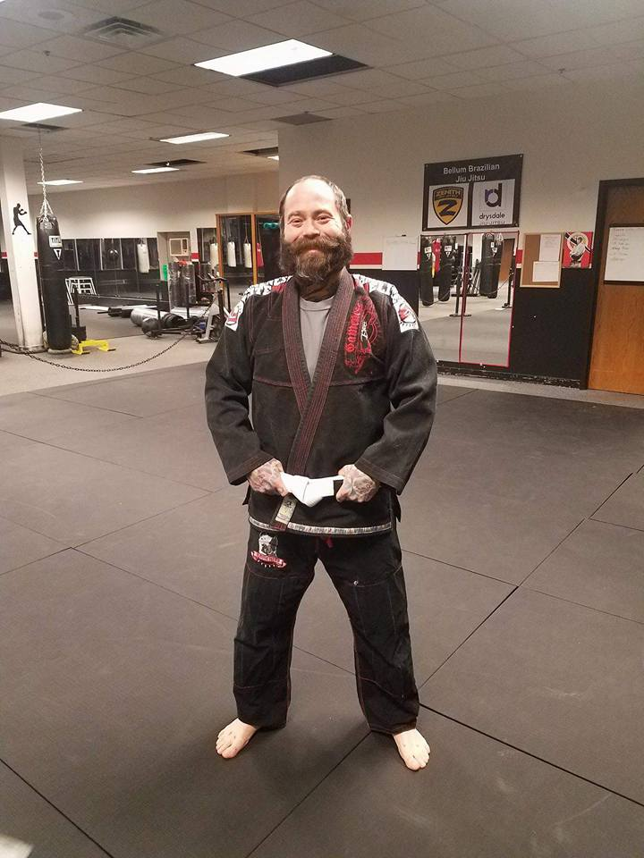 man with bjj uniform